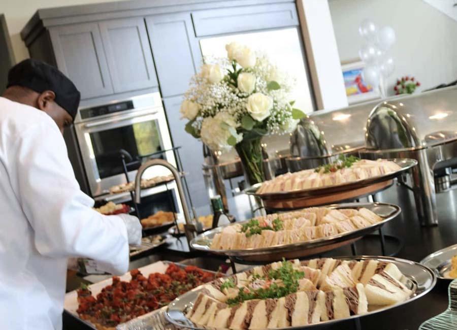 Buffet Set up elegant wedding