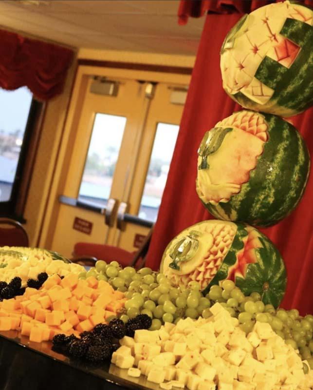 Buffet Set up fruit food display