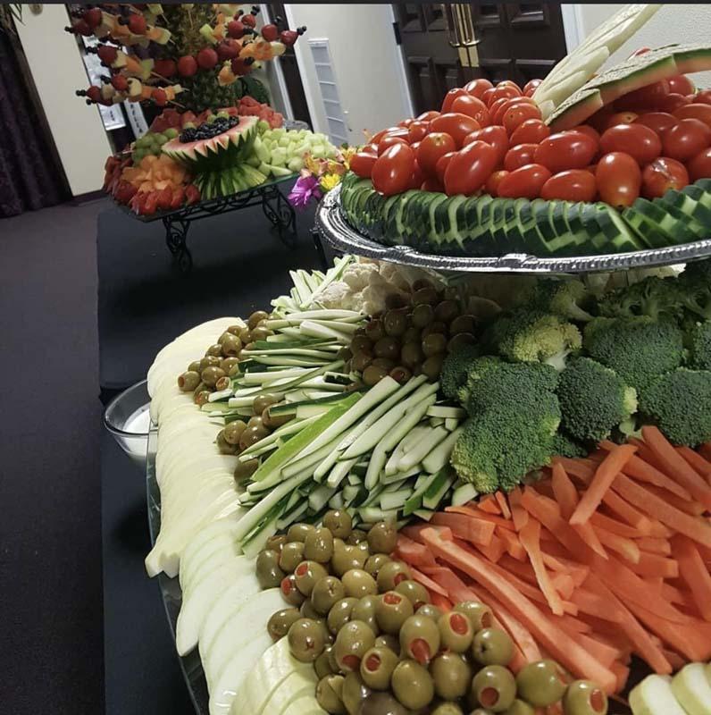 Veggie set up elegant design