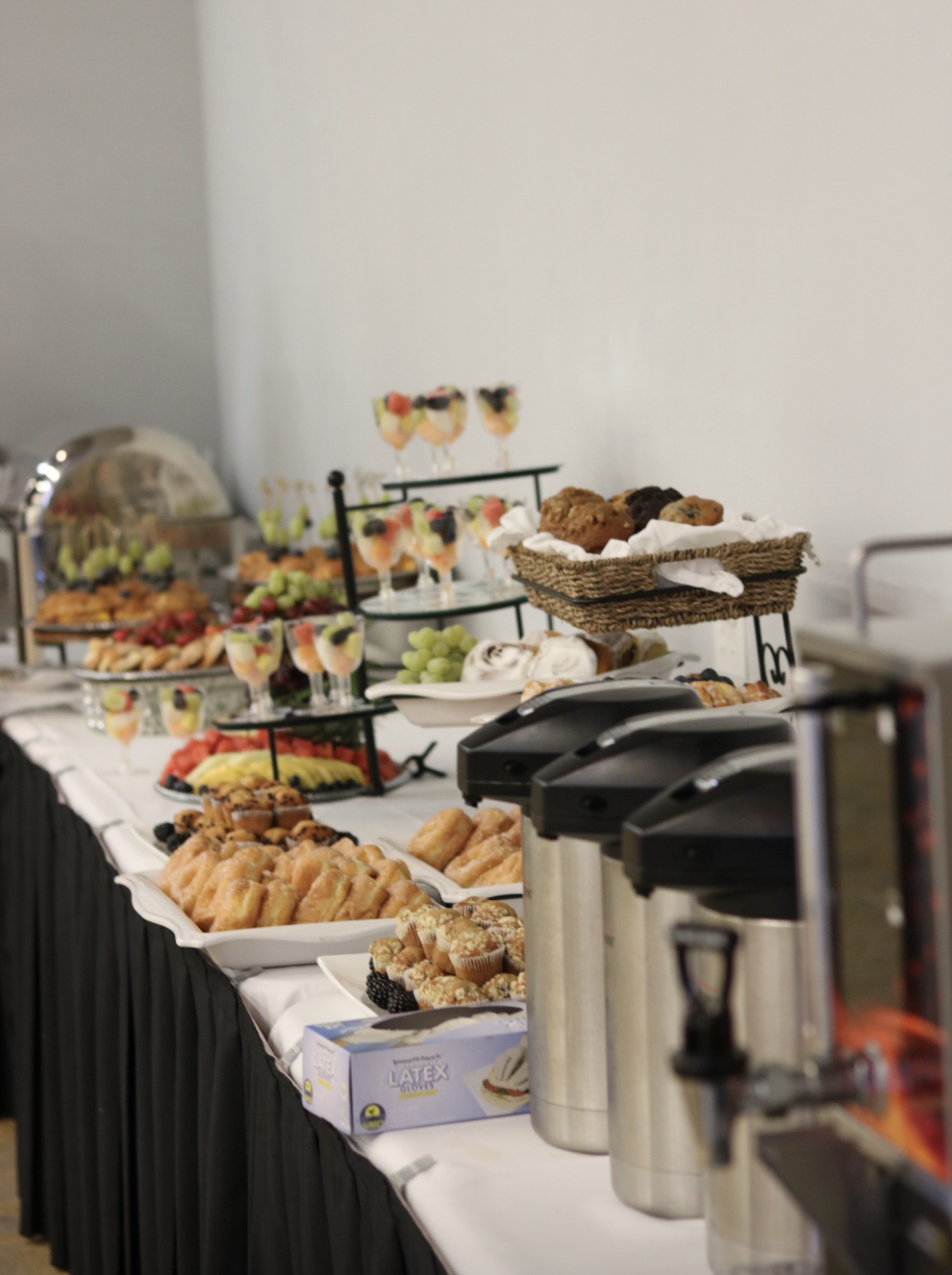 breakfast catered event for corporate Houston client