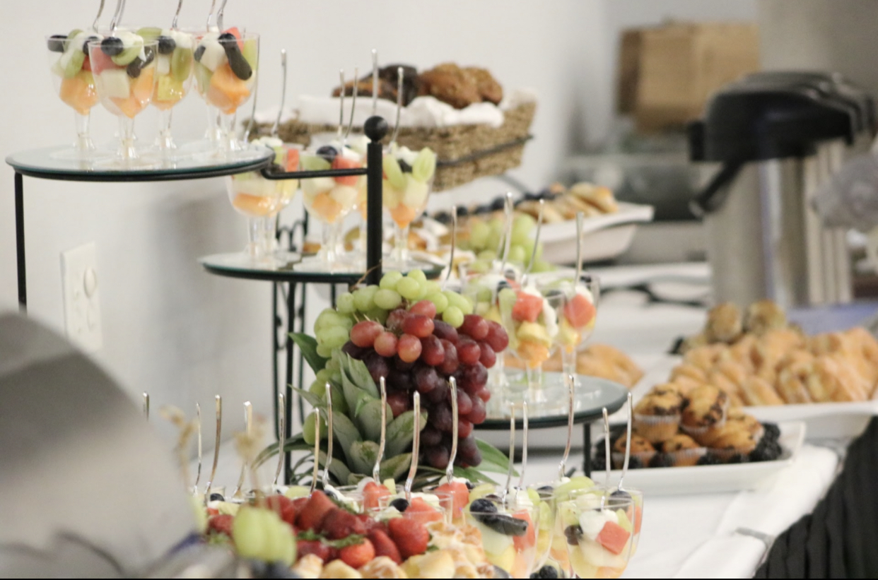 Beautiful set up for breakfast catering
