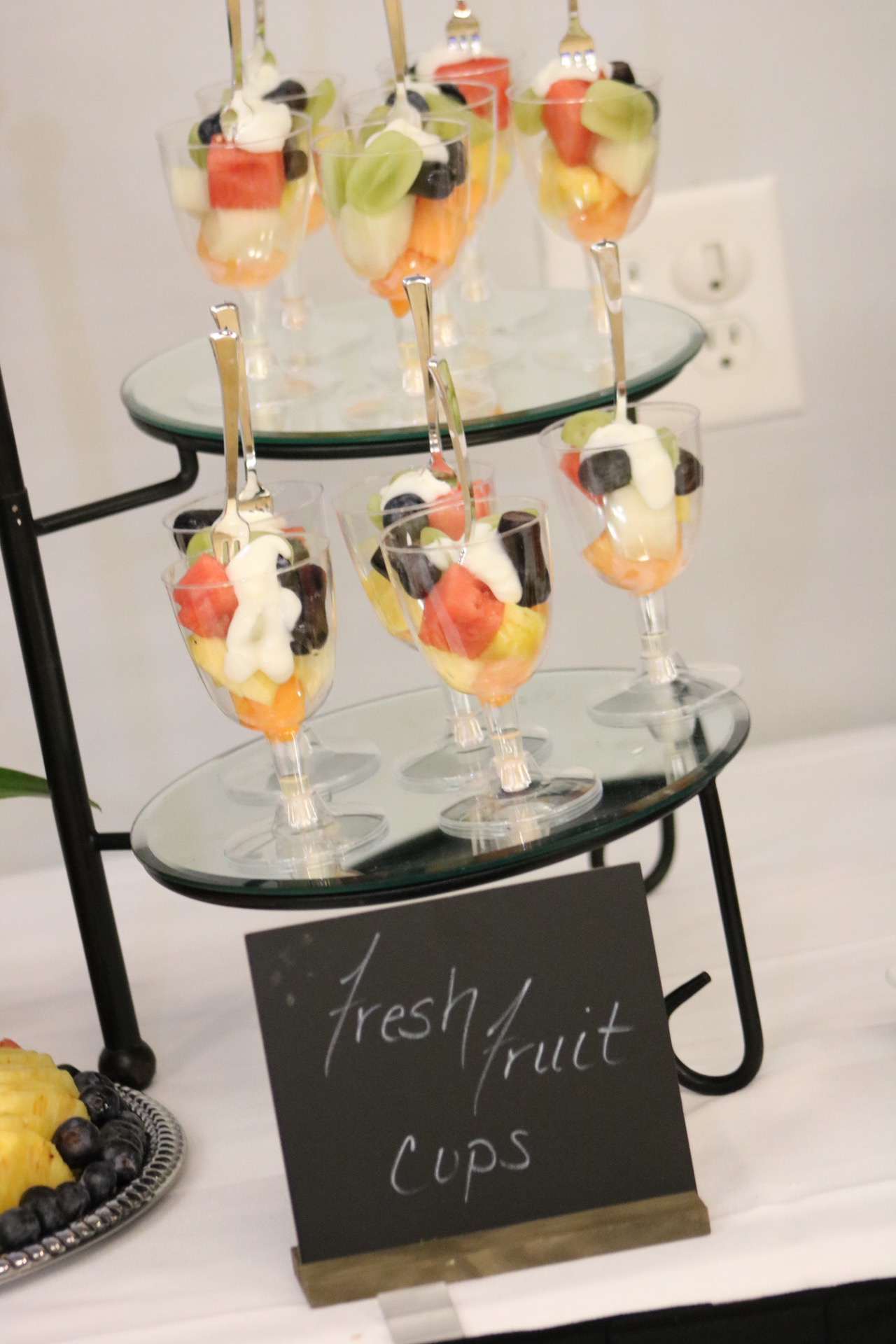 beautiful on the go fruit options caterer display
