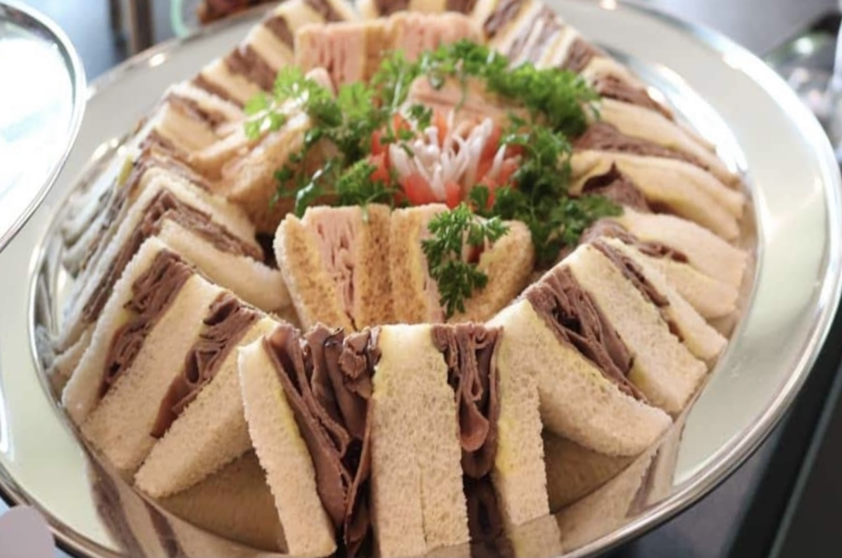 fresh in house FDL Sandwich tray fresh and delicious