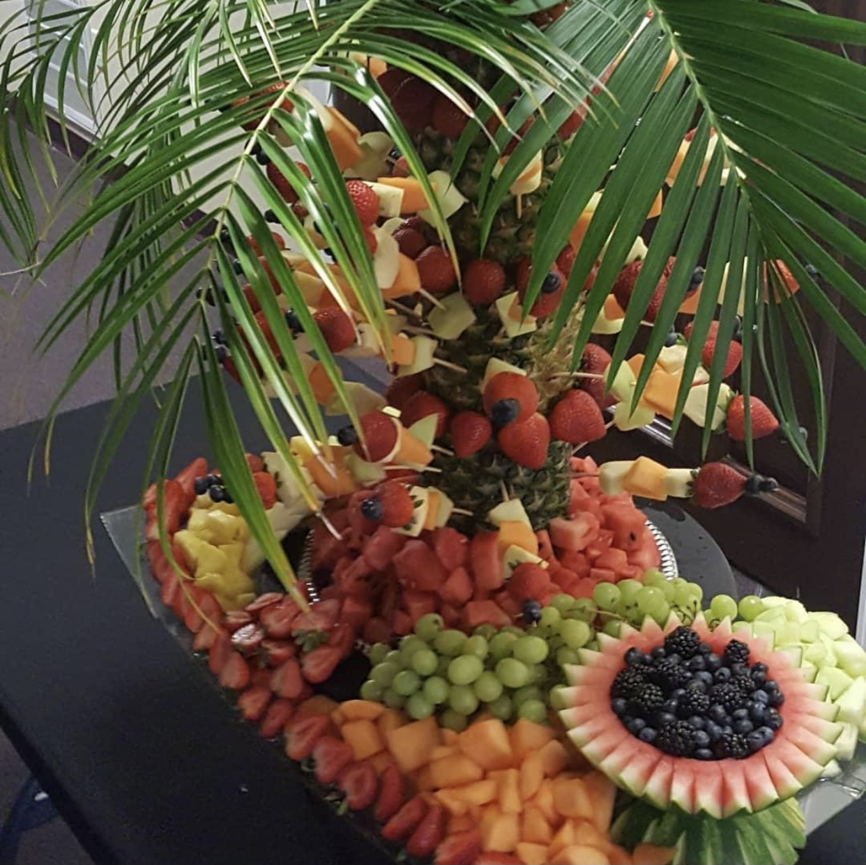 Fruit Kabobs, catering eat on the go
