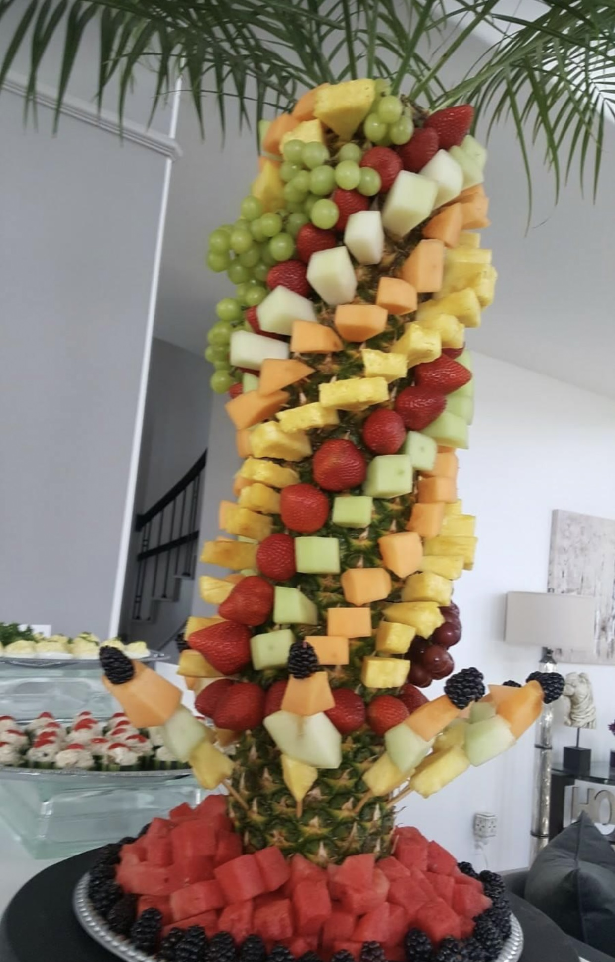 Beautiful Fruit display for private event Sugarland Texas